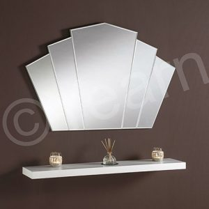 ART39 Silver Fan Mirror