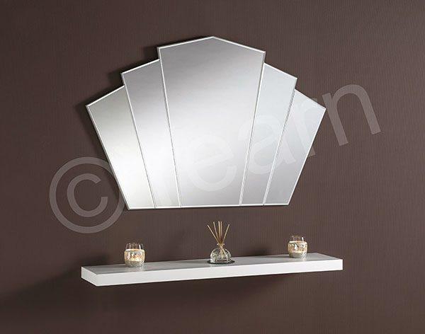 ART39 Silver Fan Mirror
