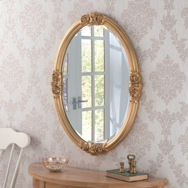 ART142 rose detailed mirror GOLD