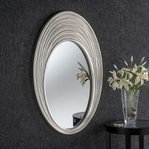 ART175 Ribed Oval Mirror