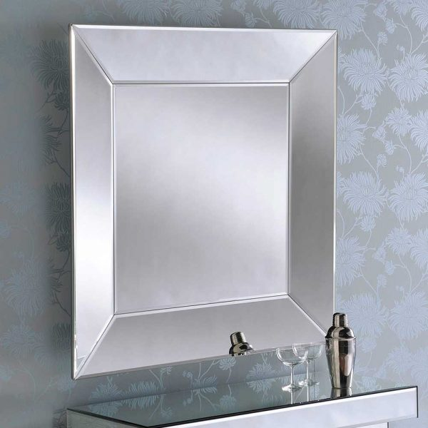 ART56 Art Deco Silver Mirror