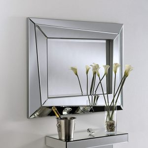 ART605 Silver art deco mirror