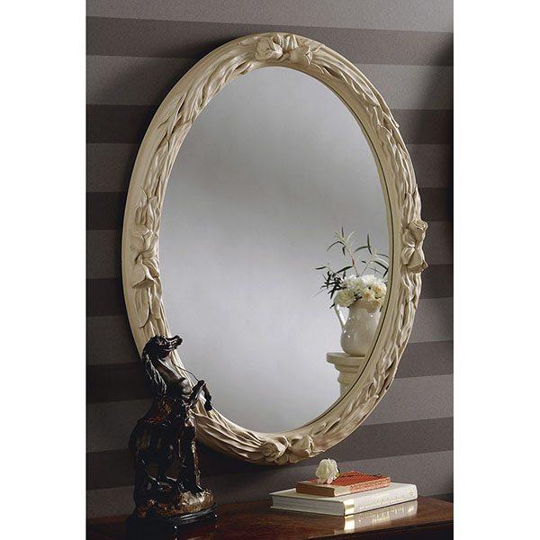 YG230 Oval Mirror Ivory