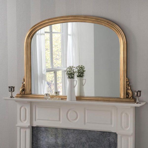 YG311 GOLD Overmantel Mirror