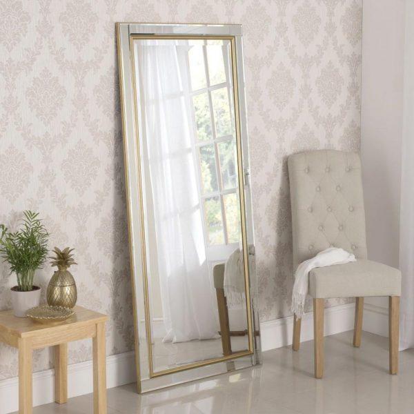 YG110 Venetian Contemporary Mirror in Gold