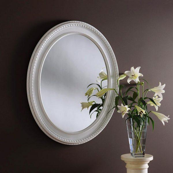 ART143 Ornate Mirror White
