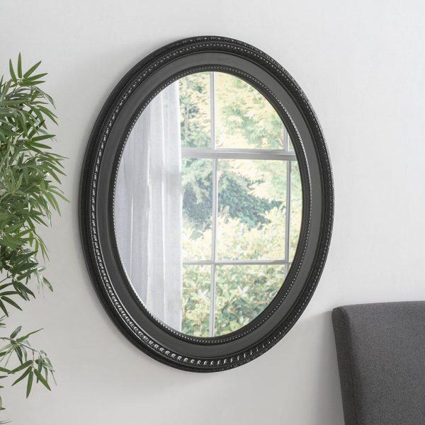 ART143 Ornate Mirror Black