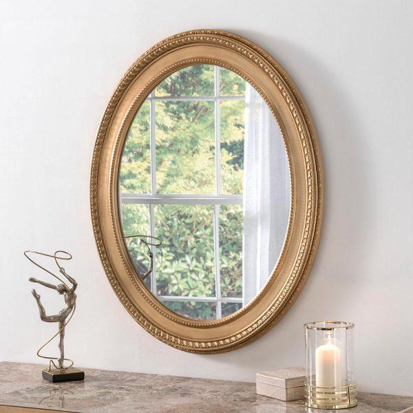 ART143 Ornate Mirror Gold