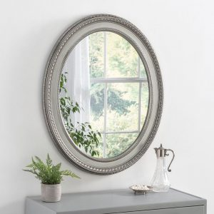 ART143 Ornate Mirror Silver