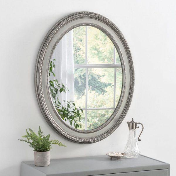 ART143 Ornate Mirror Silver