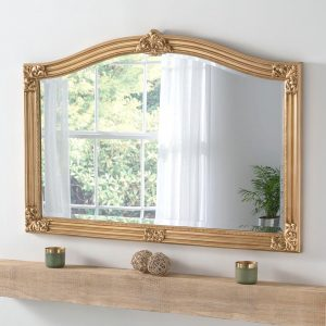 ART255 Overmantel Mirror in Gold