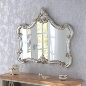 ART31L Ornate Mirror in Silver Landscape