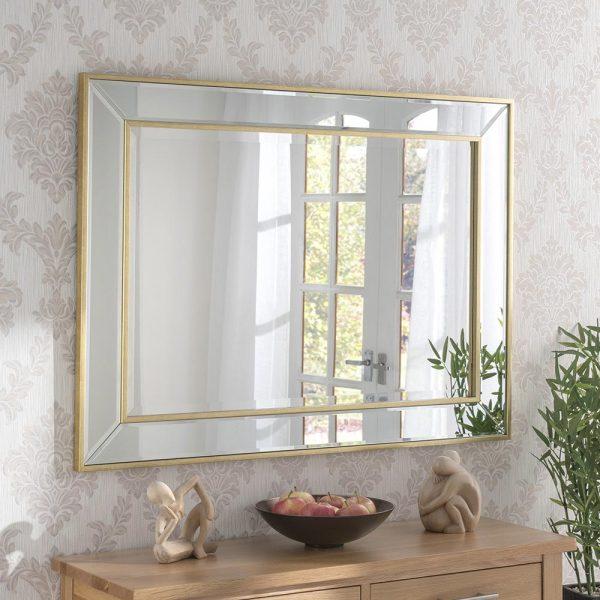 ART520 Contemporary Mirror Gold