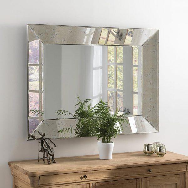 ART58 Antique Silver Mirror 48x36