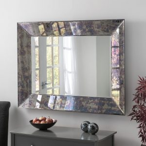 ART58 Blue Antique Mirror