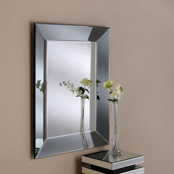 ART58 Art Deco Grey Mirror 48x36