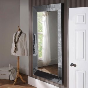 ART58 Art Deco Grey Mirror 72x42