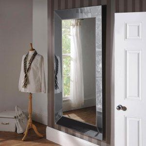 ART58 Art Deco Grey Mirror 72x42