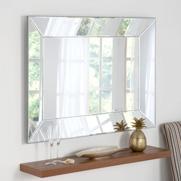 ART58 Art Deco Silver Mirror 48x36