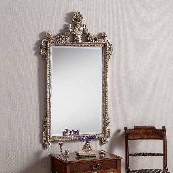ART600 Ornate Mirror in Silver