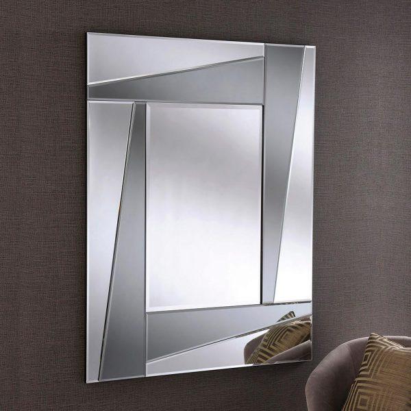 ART606 Art Deco Grey Smoked Mirror