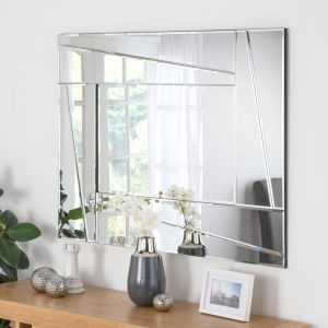ART606 Art Deco Silver Mirror