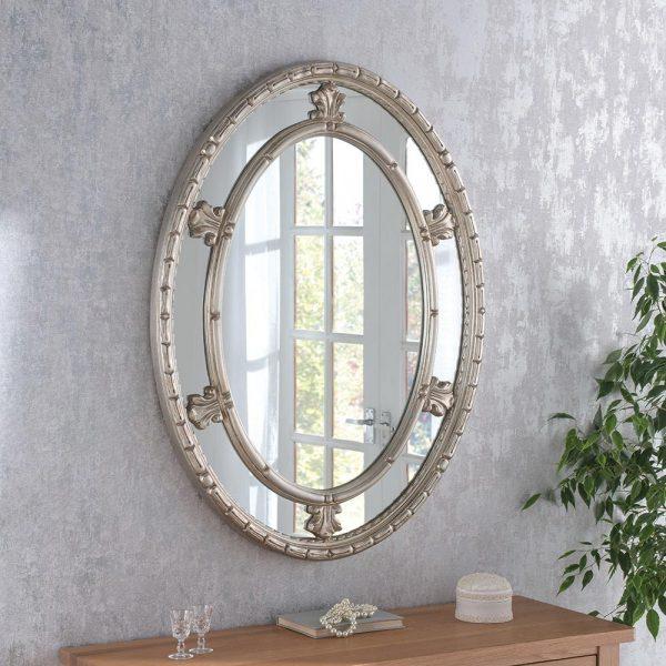 ART73 Ornate Silver Mirror