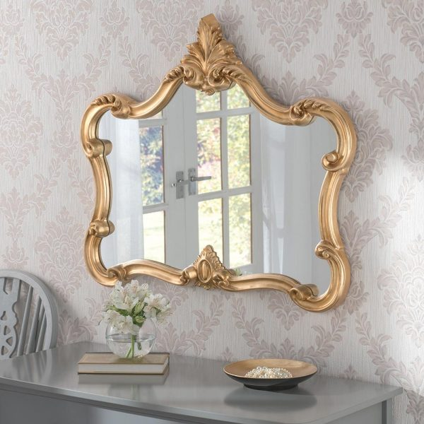 ART31L Ornate Mirror in Gold Landscape