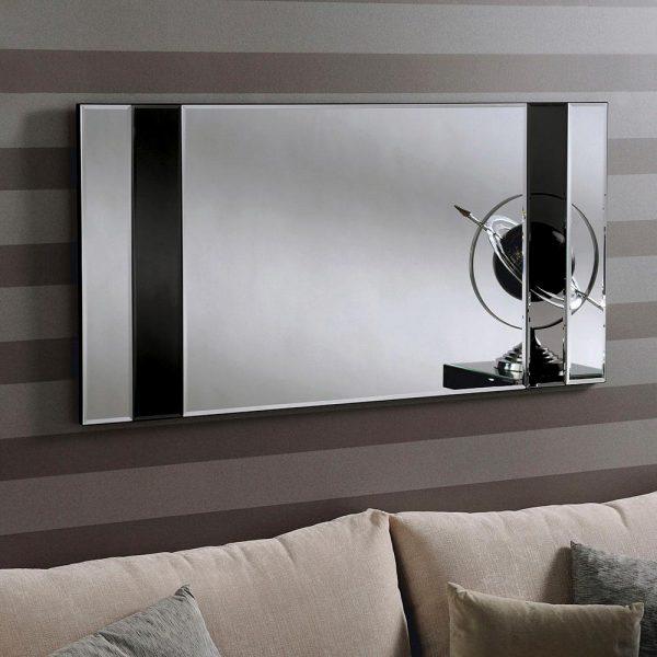 ATHENA Art Deco Mirror in BLACK