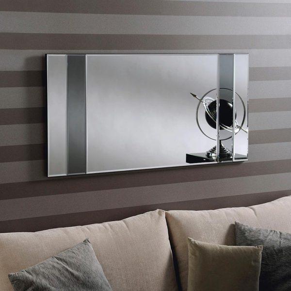 ATHENA Art Deco Mirror in Grey