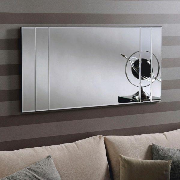 ATHENA Art Deco Mirror in Silver