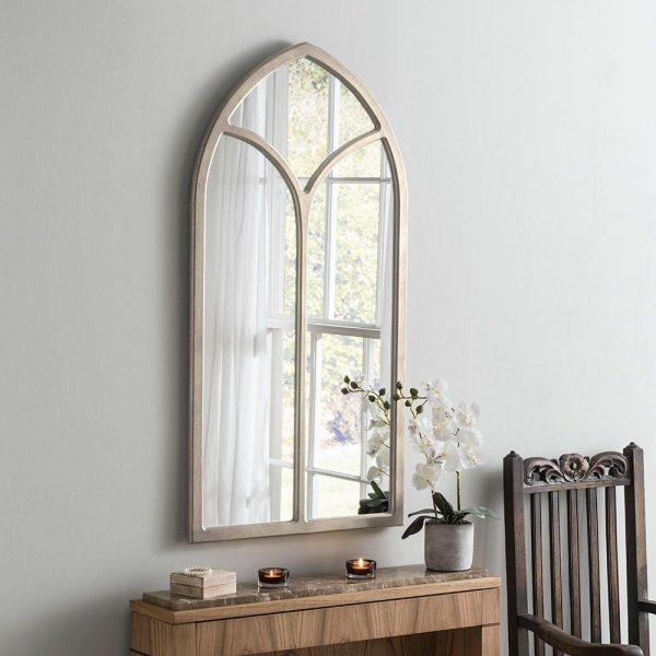 Canterbury Window Silver Antique Mirror