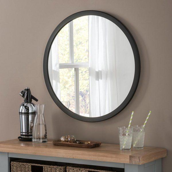 Classic Circle Mirror in Black