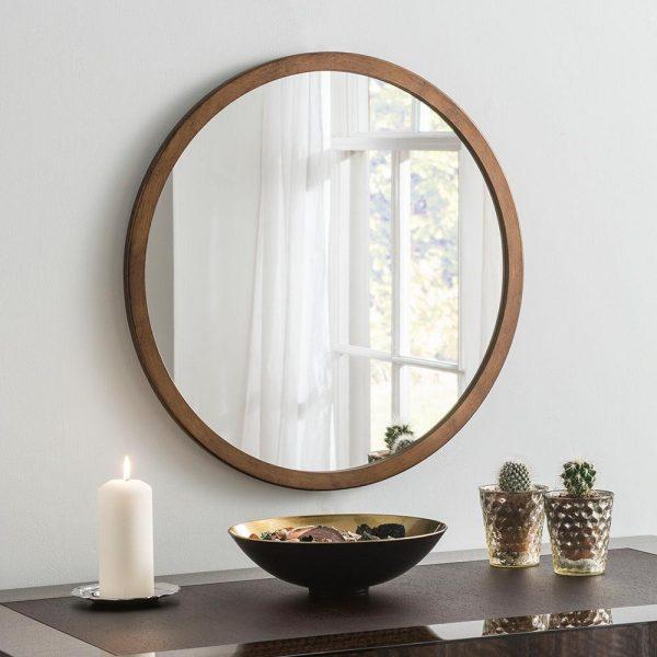 Classic Circle Mirror in Bronze