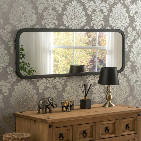 Classic Oblong Mirror in Black