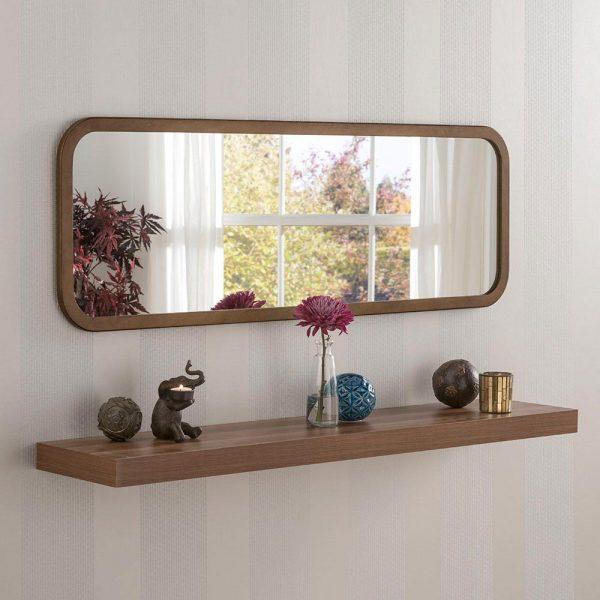 Classic Oblong Mirror in Bronze