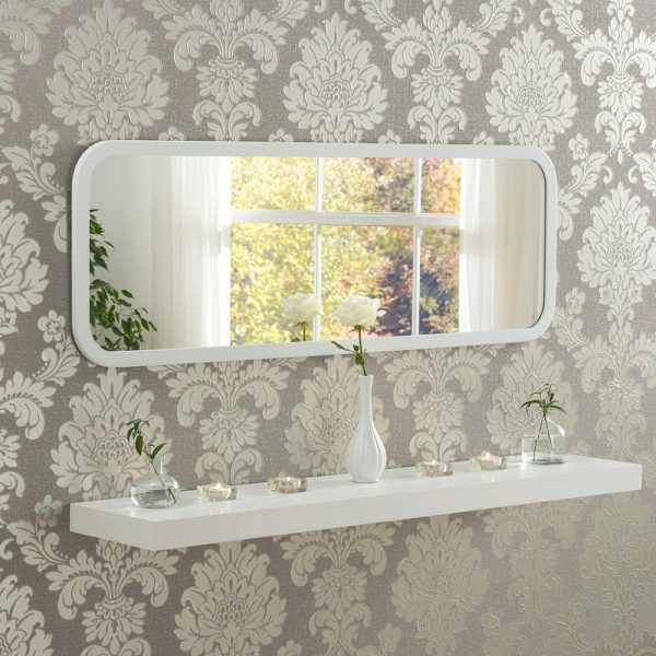 Classic Oblong Mirror in White