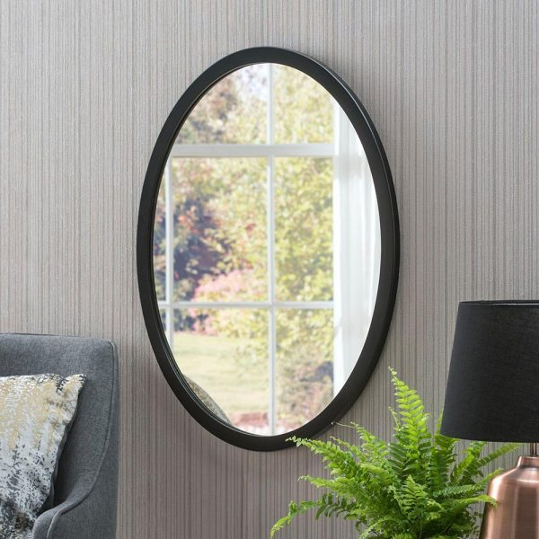Classic Oval Mirror in Black