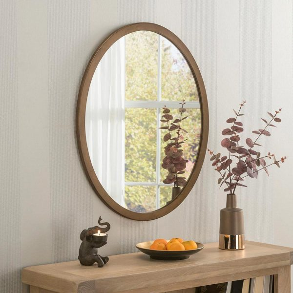 Classic Oval Mirror in Bronze