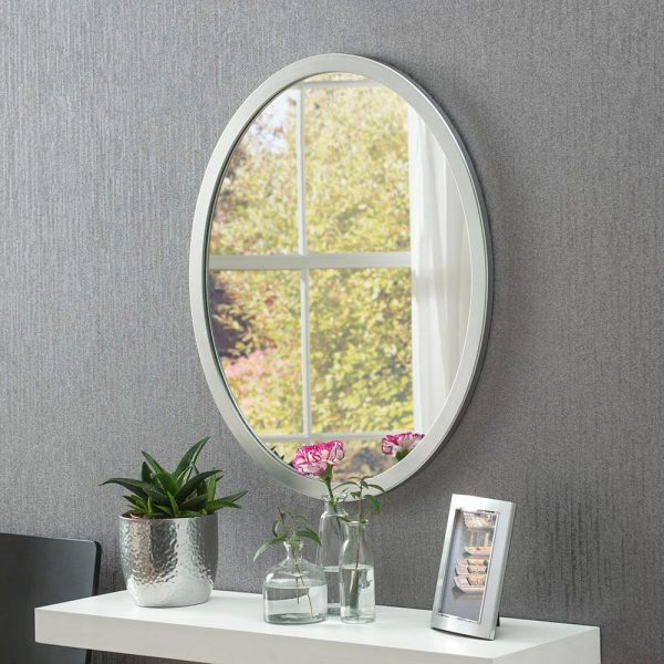 Classic Oval Mirror in Silver
