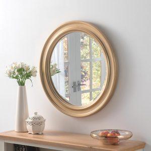DENVER Contemporary Mirror in Gold Portrait