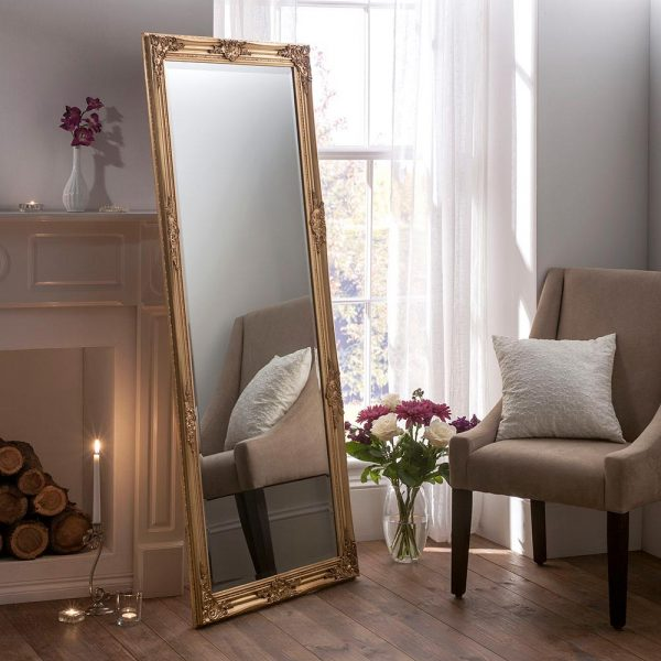 FLORENCE Baroque Leaner Mirror in Gold