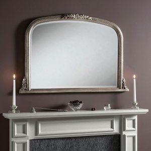 M301 Overmantel Mirror in SILVER