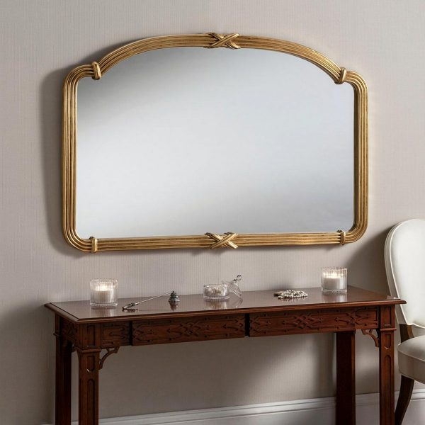M318 Overmantel Mirror in Gold