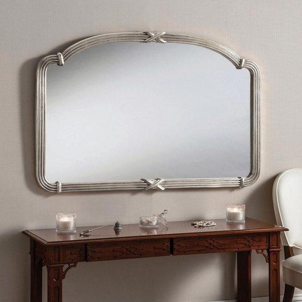 M318 Overmantel Mirror in Silver
