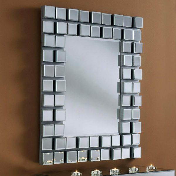 MONA Art Deco Mirror in Silver