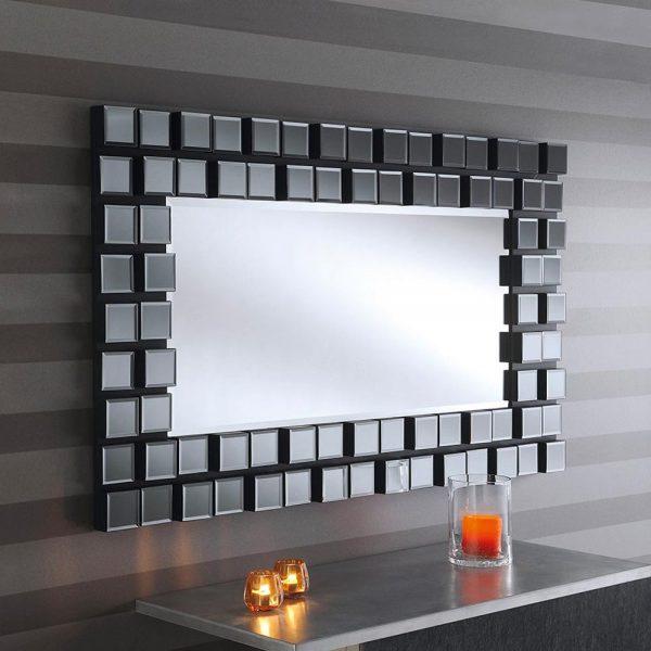 MONA Art Deco Mirror in Grey
