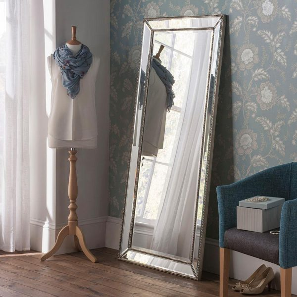 MONACO Contemporary Leaner Mirror in Silver