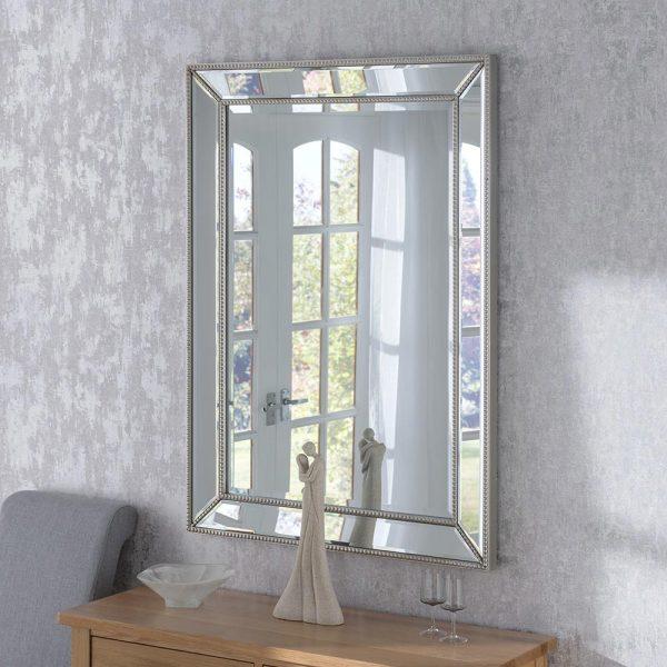 MONACO Contemporary Mirror in Silver