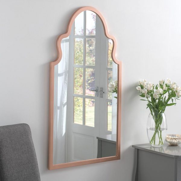 Morocco Contemporary Mirror in Copper